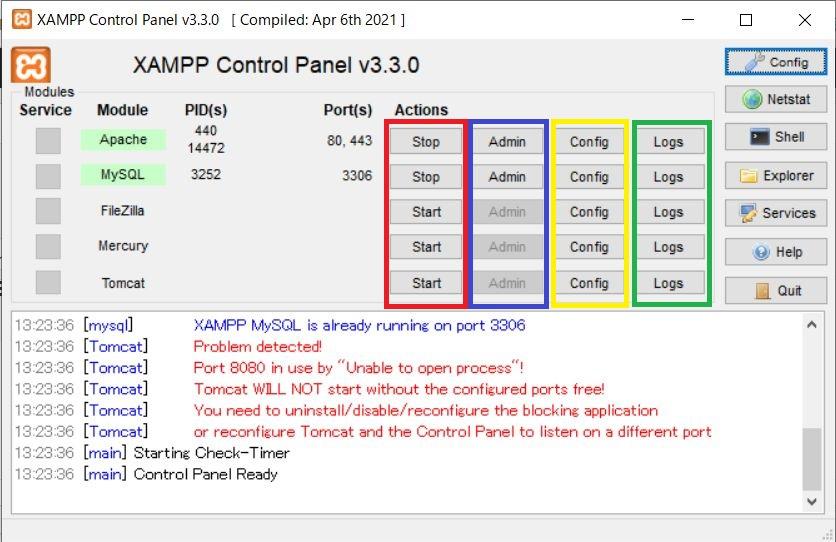 XAMPP-controlpanel2